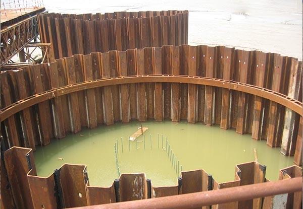 拉森钢板桩-水中围堰